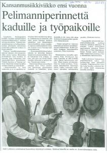 1989 Kansanmusiikkiviikkoa ennakoidaan